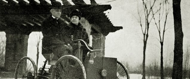 Henry Ford and wife in his first car
