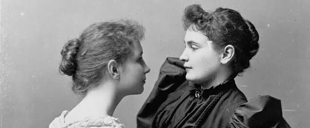 Hellen Keller and Anne Sullivan