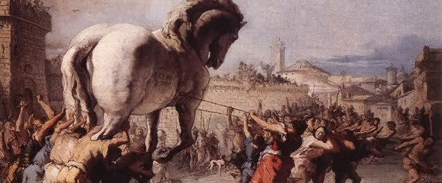 The Trojan Horse by Tiepolo