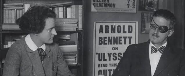 Sylvia Beach and James Joyce